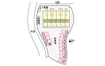 【区画図】ラインハイム横代