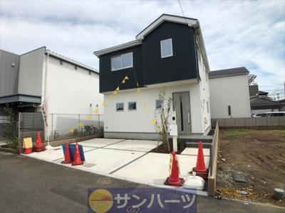 【外観】草加市谷塚町新築戸建て【全2棟】