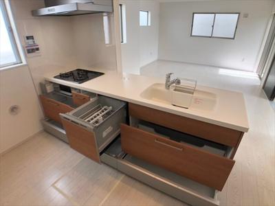 【キッチン】草加市谷塚町新築戸建て【全2棟】