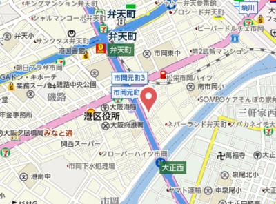 【地図】ジアコスモ大阪ベイシティ
