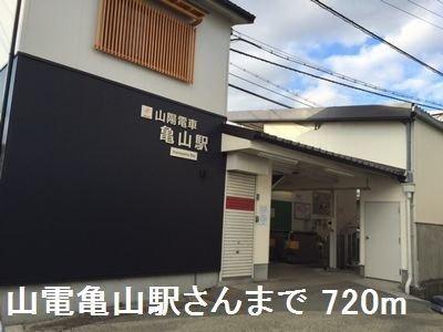 山電亀山駅さんまで720m