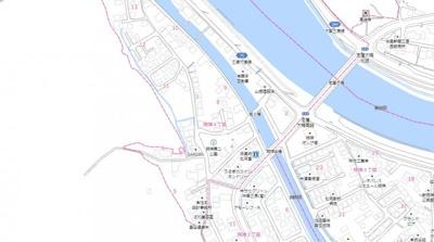 【地図】明神4丁目 中古戸建