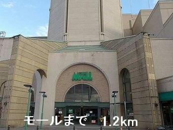 モールまで1200m