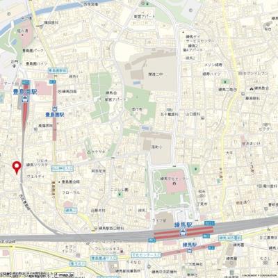 【地図】ソアール豊島園