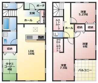 碧南市伏見町Ⅱ新築分譲住宅2号棟間取りです。