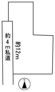【区画図】57089 不破郡垂井町宮代土地