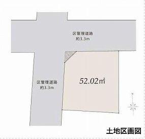 【区画図】中野区中央1丁目 新築戸建