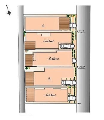 【区画図】【現地内覧会開催中】杉並区上荻3丁目 新築戸建 E号棟 8390万円