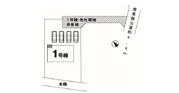 【区画図】石岡市鹿の子1期 新築戸建