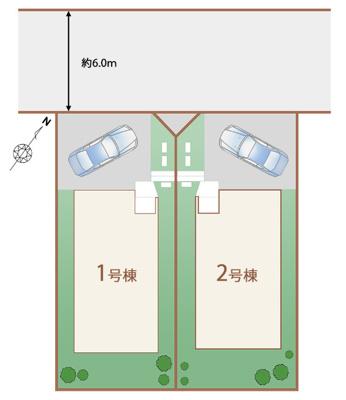 【区画図】神戸市西区学園東町 新築戸建 2棟分譲開始しました