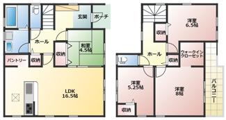 碧南市伏見町Ⅱ新築分譲住宅3号棟間取りです。