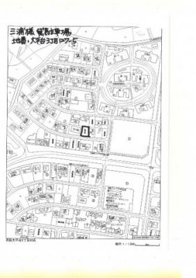【地図】大平台3丁目127-5駐車場⑤