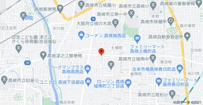 【地図】高西町貸家 (株)Roots