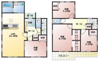 碧南市伏見町Ⅱ新築分譲住宅5号棟間取りです。