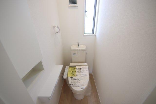 2号棟 落ち着いた色調のトイレです