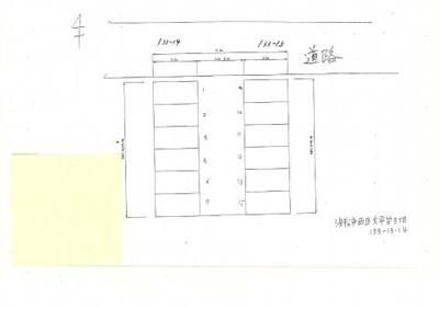 【区画図】大平台3丁目133-13,14駐車場
