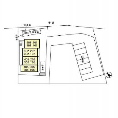 【区画図】ミレニアムハイツ