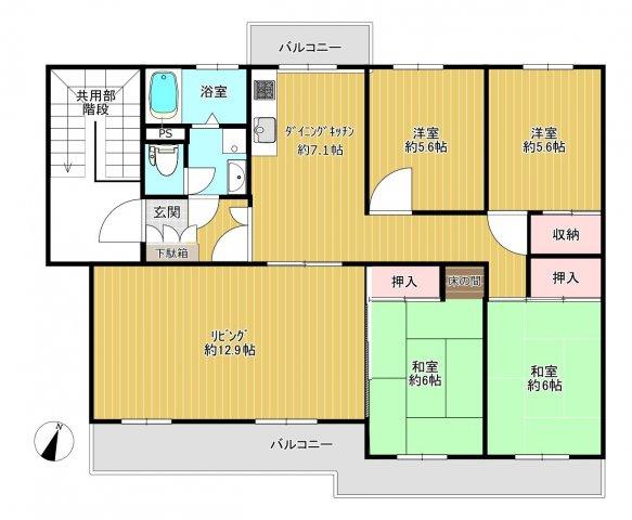 おススメポイントは、家事とくつろぎを分けられる独立したリビングとダイニングキッチンです。リビング部分は窓が2つあり、陽当り通風抜群です!
