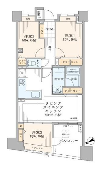コスモ上野パークサイドシティ:リビングダイニングに床暖房が付いた3LDK新規内装リノベーション物件です!