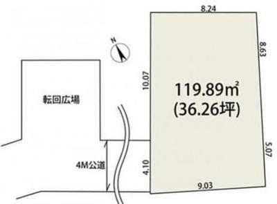 【区画図】【仲 介 手 数 料 無 料】越ヶ谷新築一戸建て