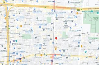 【地図】ミラージュパレス谷町ブライト