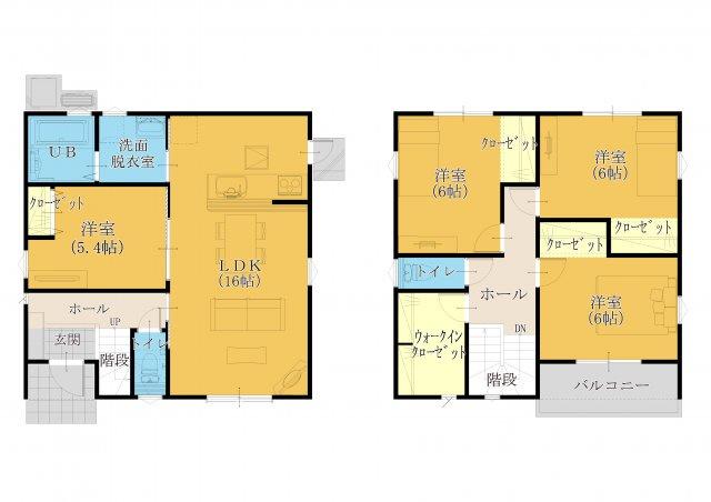 30坪 4SLDK。全室洋室設計。