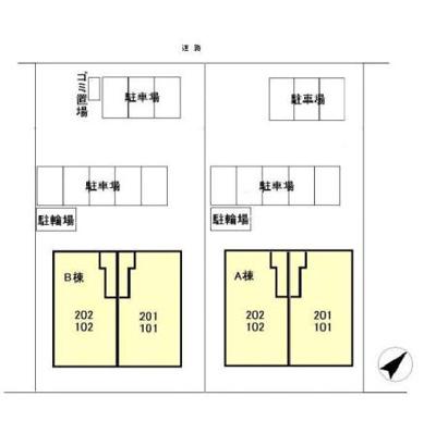 【区画図】パークヒルAB