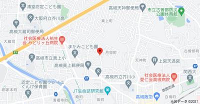 【地図】月見町貸家 (株)Roots