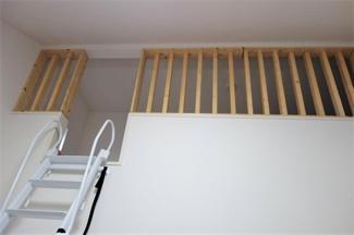 寝室としても使える6.1帖のロフトです
