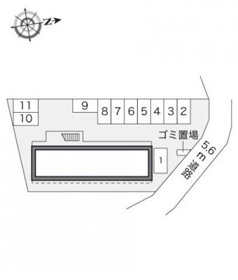 【区画図】レオパレスフィオーレⅡ