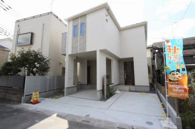 外観です:建物完成しました♪♪毎週末オープンハウス開催♪八潮新築ナビで検索♪