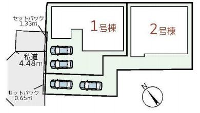 【区画図】八尾市相生町1丁目 2号棟 新築戸建