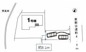 【区画図】高崎市足門町 1号棟