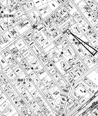 【区画図】西区高須1丁目