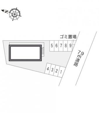 【区画図】レオパレスオリーブ