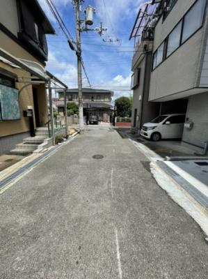 【前面道路含む現地写真】金岡町 売土地