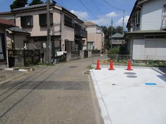 習志野市実籾本郷 新築一戸建て 実籾駅 前面道路は車通りが少ない場所です!