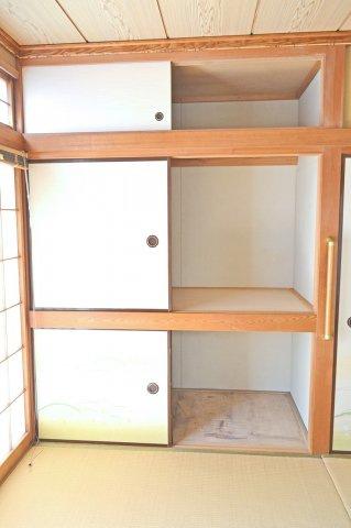 1Fの7.5帖和室、収納もたくさん