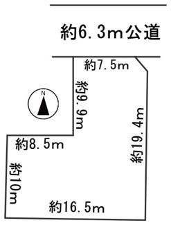 【区画図】57020 岐阜市祈年町土地