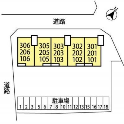 【区画図】リ・ヴラン東川口 Ⅱ
