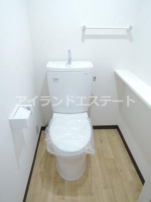 【トイレ】リバーフィールド上町 礼金0 駅近 2人入居可 お子様可 南向き
