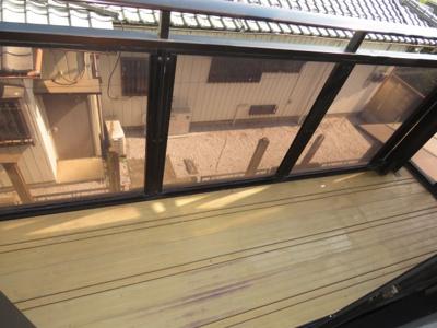 【バルコニー】川越市大字的場 3LDK+ウォークインクローゼット 中古戸建