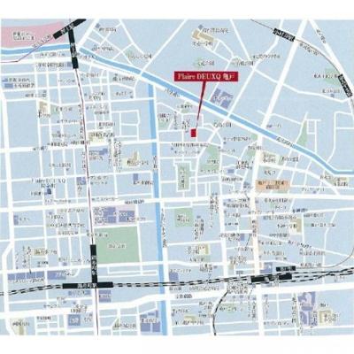 【地図】プレール・ドゥーク亀戸