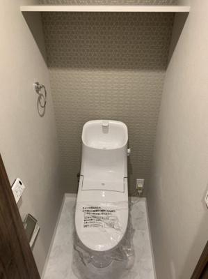 トイレ床タイル新規交換