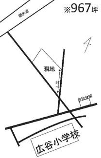 【土地図】川越市下広谷 資材置場用地 「鶴ヶ島駅」徒歩27分 敷地967坪