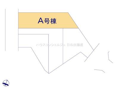 【区画図】名古屋市緑区桶狭間森前511【仲介手数料無料】新築一戸建て A号棟