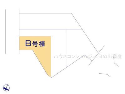 【区画図】名古屋市緑区桶狭間森前511【仲介手数料無料】新築一戸建て B号棟