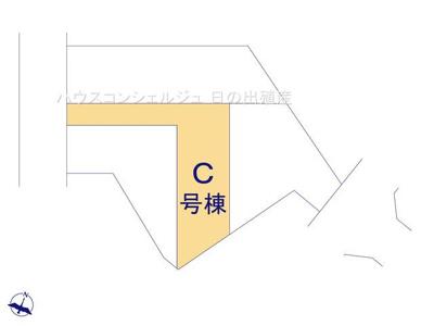 【区画図】名古屋市緑区桶狭間森前511【仲介手数料無料】新築一戸建て C号棟