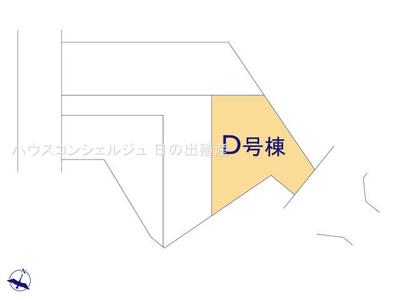 【区画図】名古屋市緑区桶狭間森前511【仲介手数料無料】新築一戸建て D号棟