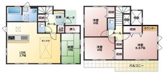 碧南市西浜町3丁目新築分譲住宅1号棟間取りです。